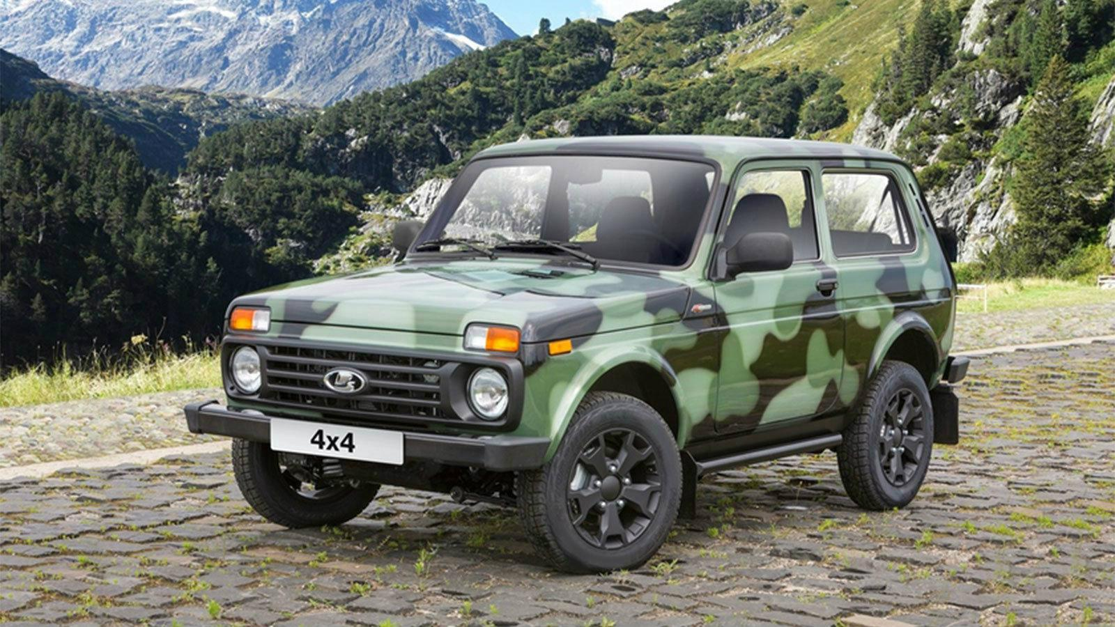 camouflage lada niva lada lada niva 4x4. Black Bedroom Furniture Sets. Home Design Ideas