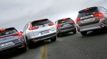 Toyota RAV4 VS Mitsubishi Outlander VS Lexus UX VS Honda CR-V