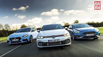 Ford Focus ST vs Hyundai i30 N vs VW Golf GTI
