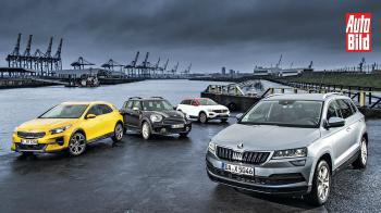 Skoda Karoq vs Kia XCeed vs VW T-Roc vs MINI Countryman