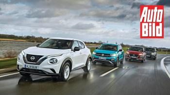 Nissan Juke vs VW T-Cross vs Hyundai Kona vs Jeep Renegade
