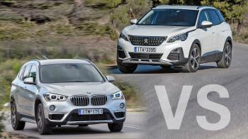 Δοκιμή: BMW X1 sDrive16d vs Peugeot 3008 BlueHdi